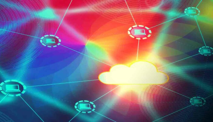 Pildil on värviline arvutivõrk, mis illusteerib teemat Bitcoin Lightning Network - 2. kiht bitcoini võrgus